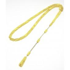 Kesme Sarı Limon Kehribar Tesbih